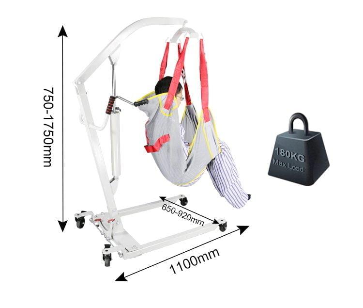patient lift dimensions